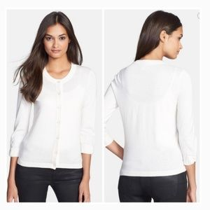 CLOSET SALE kate spade cream bow sweater cardigan